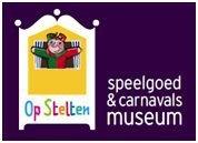 """Logo van Speelgoed- en Carnavalsmuseum """"Op Stelten"""""""